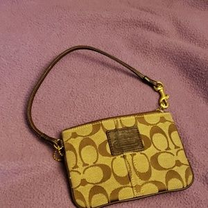 Coach Monogram Poppy Wristlet